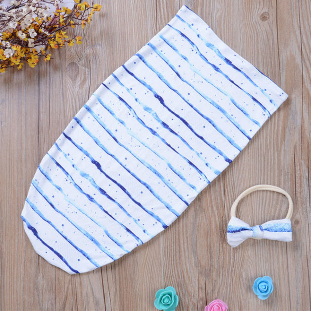 Blue Stripes Baby Swaddle Sack