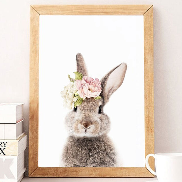 Bunny Nursery Canvas Wall Art Front side