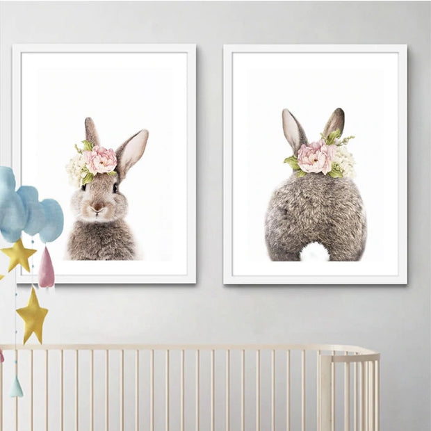Bunny Nursery Canvas Wall Art