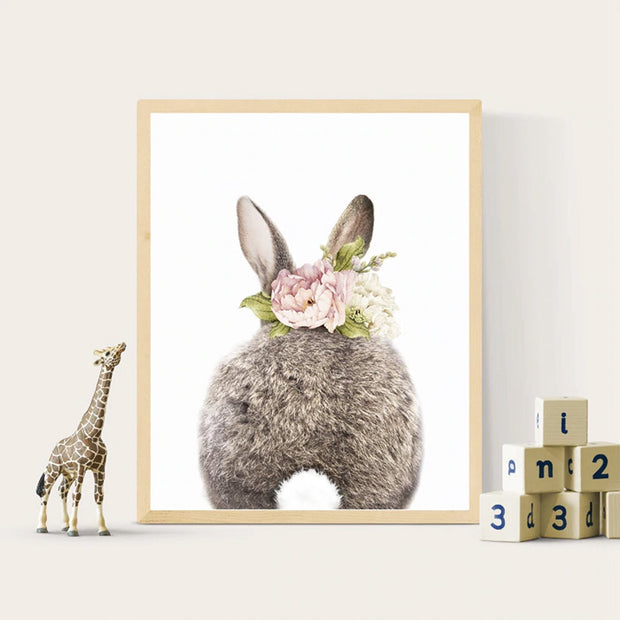 Bunny Nursery Canvas Wall Art backside