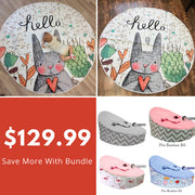 Bunny Playmat & Baby Bean Bag Bundle