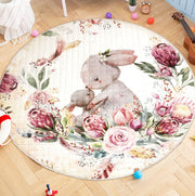 Bunny & Baby Round Cotton Play Mat 150-150 cm