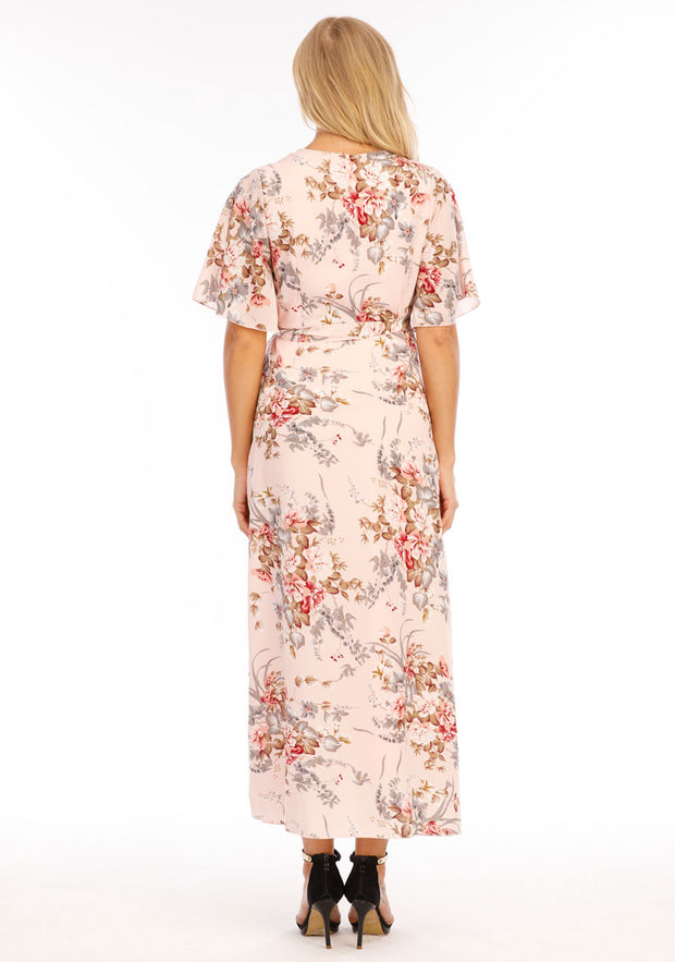 Chloe Maternity & Pregnancy Wrap Dress Back