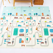 City Roads Reversible Baby Play Mat Front