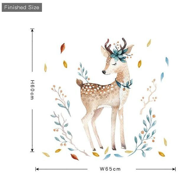 Deer Wall Sticker size