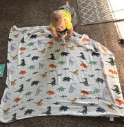 Dino Swaddle Wraps with baby full