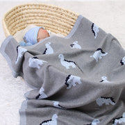 Dinosaur Baby Blanket with baby