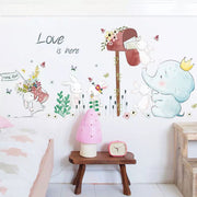 Elephant & Rabbits Nursery Wall Stickers main