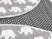 Elephants Round Cotton Baby Play Mat 150-150 cm Backside