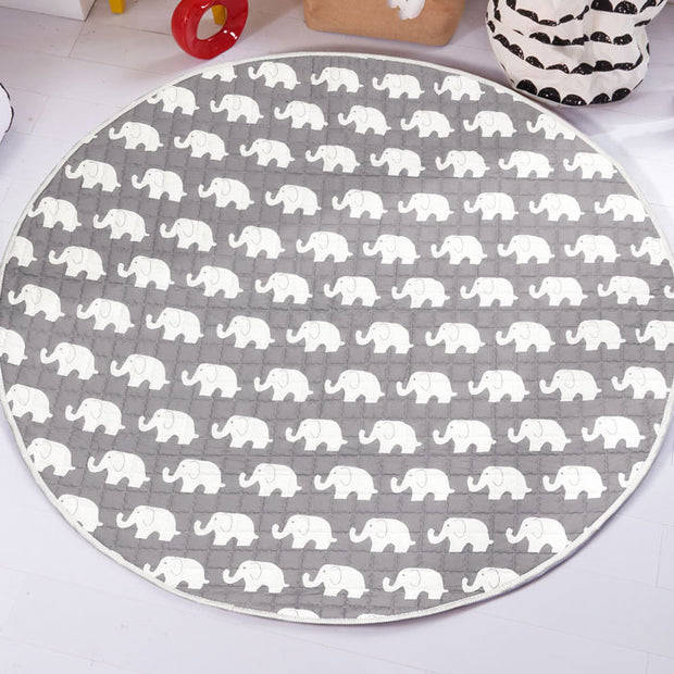 Elephants Round Cotton Baby Play Mat 150-150 cm