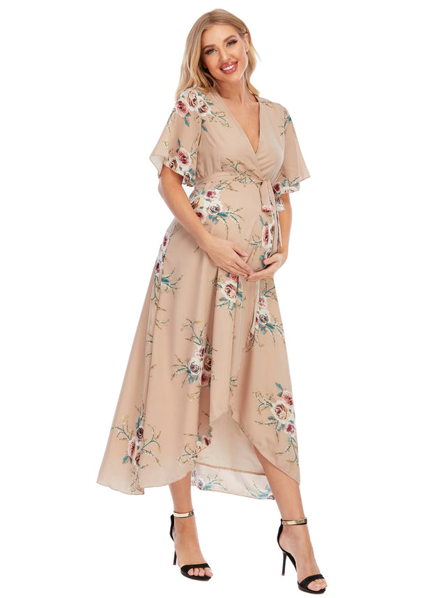 Eva Maternity & Nursing Wrap Dress