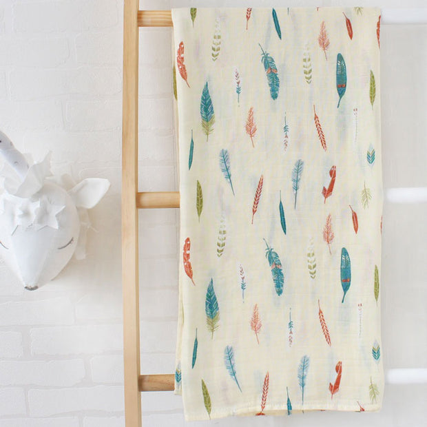 Feathers Baby Swaddle Wrap Full Image