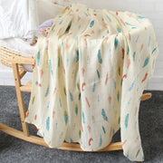 Feathers Baby Swaddle Wrap on Bassinet