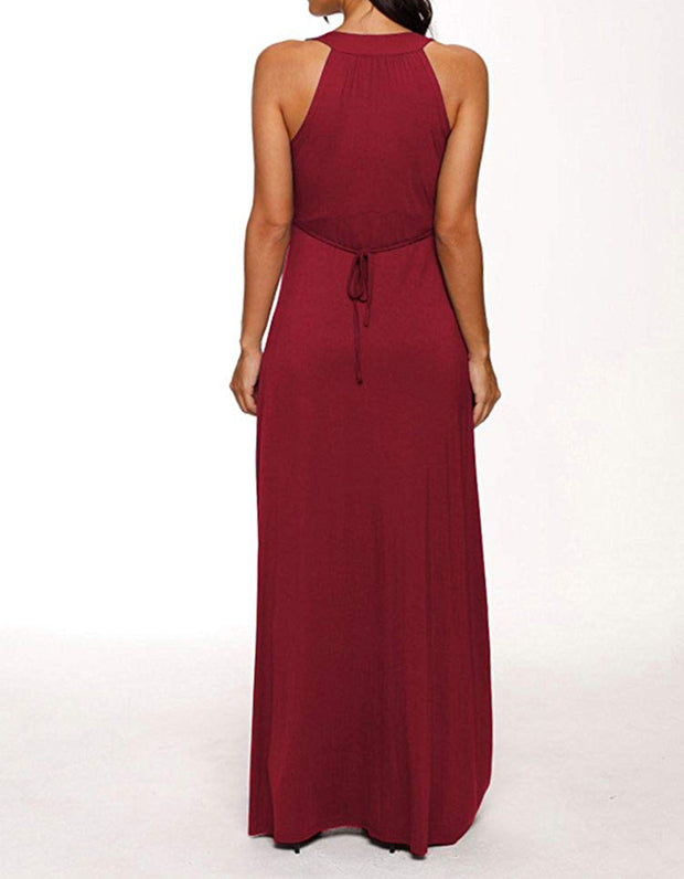 Florence - Maroon Maternity Gown Dress