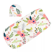 Flowers Baby Swaddle Sack front