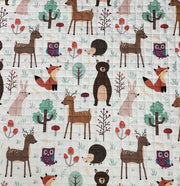 Forest Animals Round Baby Play Mat Closeup