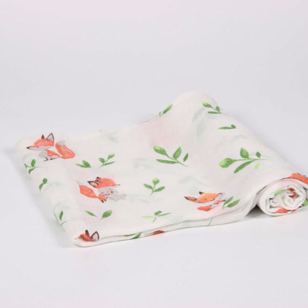Fox Baby Swaddle Wrap Fold 1