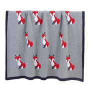 Fox Grey Baby Blanket Hanging