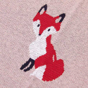 Fox Rose Baby Blanket Fox Closeup