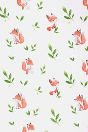 Fox fitted cot sheet close up 2