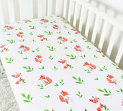 Fox fitted cot sheet front 2