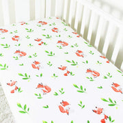 Fox fitted cot sheet front