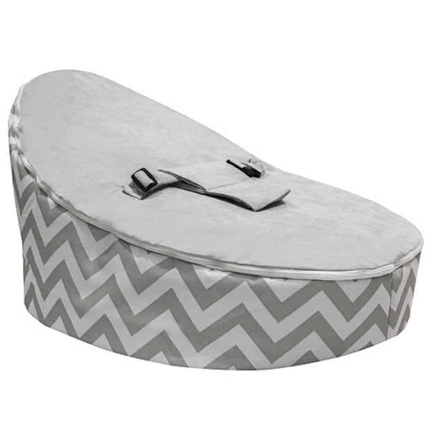 Gale - Grey Chevron Baby Bean Bag