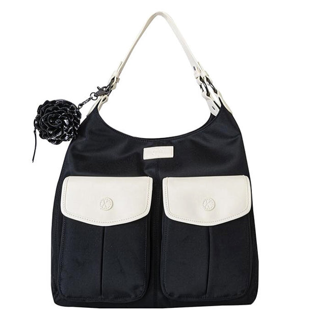 Gr8x - Alice Shoulder Nappy bag Black and Cream
