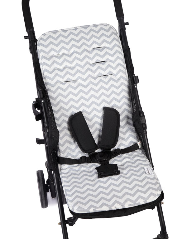 Grey Chevron Pram Liner