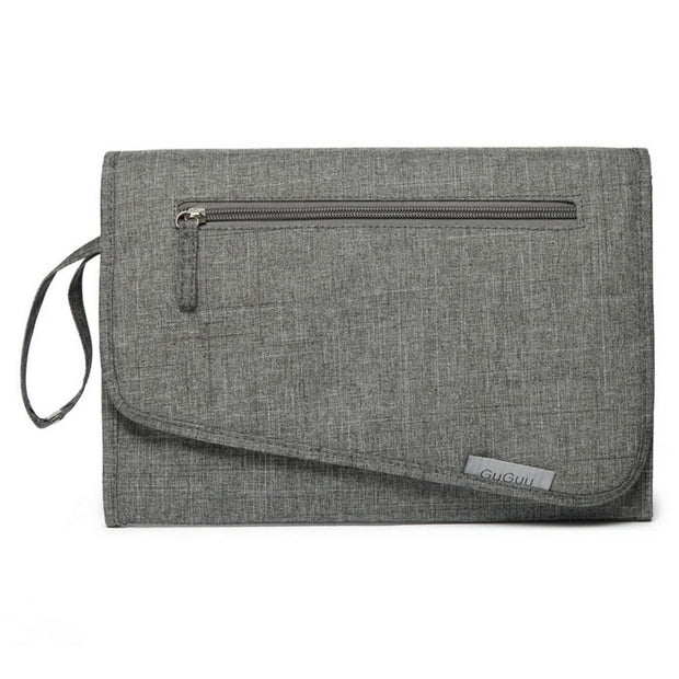 Grey Nappy Wallet with change mat