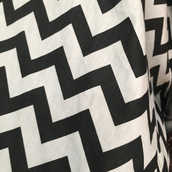 Black Chevron Car Seat Canopy