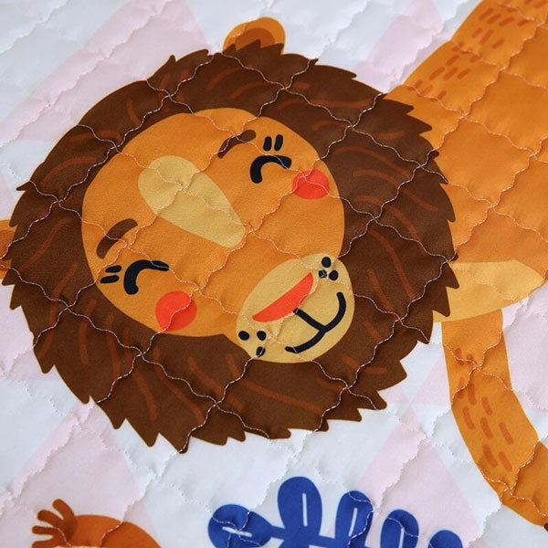 Jungle Safari Baby Play Mat Print Close up