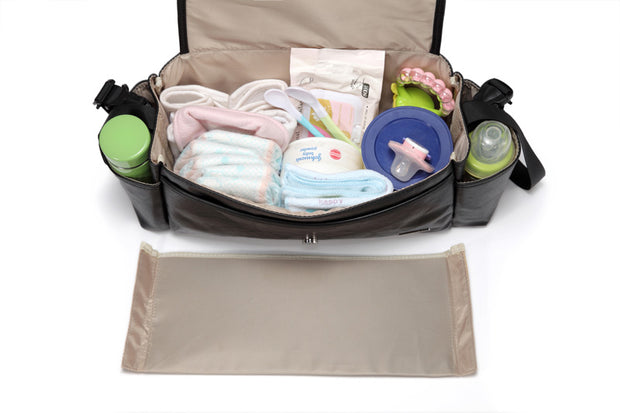 Kayla Black Pram Caddy with partition out