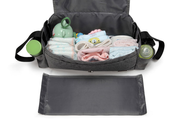 Kayla Grey Pram Caddy inside with partition