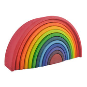 Large 12 piece Wooden Rainbow Stacker main