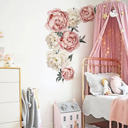 Large Peony Flowers Wall Sticker