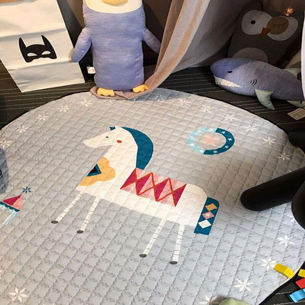 Large White Horse Baby Play Mat