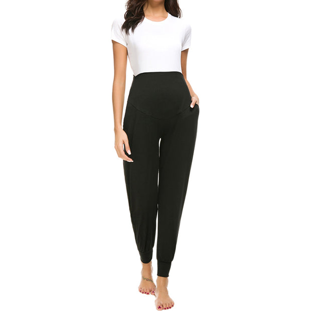 Leah Black Maternity Casual Pants
