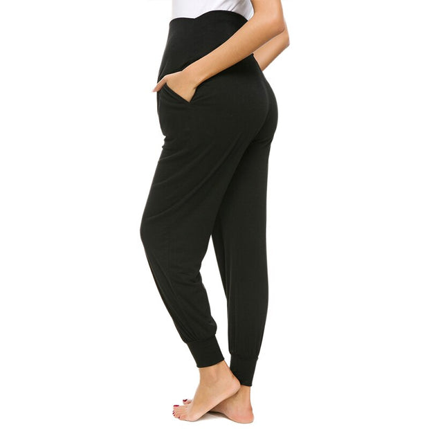 Leah Black Maternity Casual Pants backside