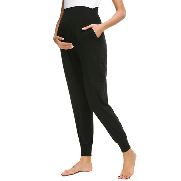 Leah Black Maternity Casual Pants side