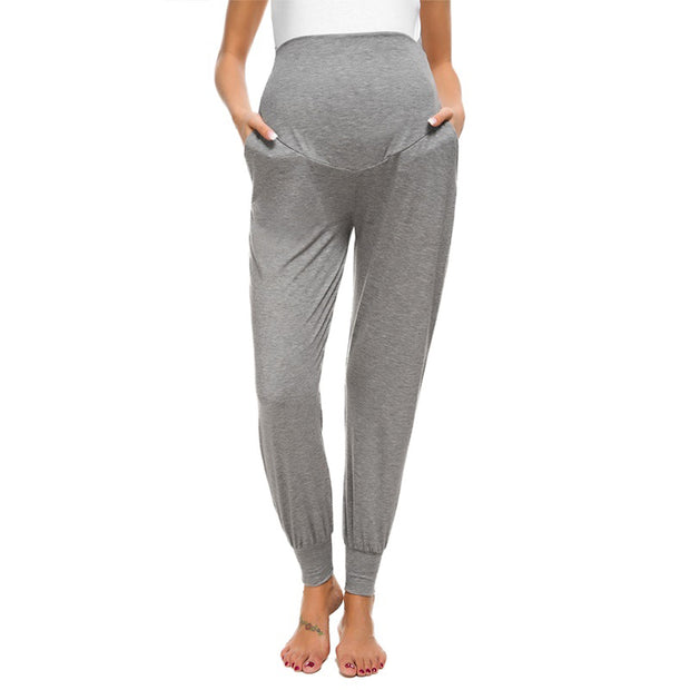 Leah Grey Maternity Casual Pants