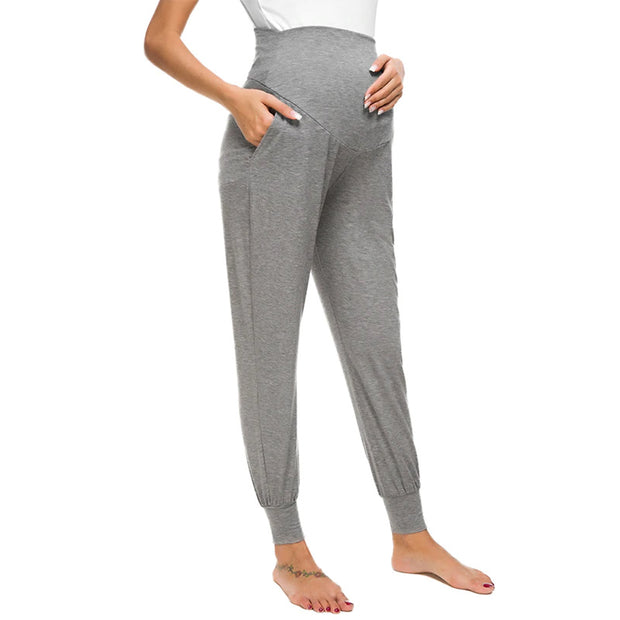 Leah Grey Maternity Casual Pants side 2