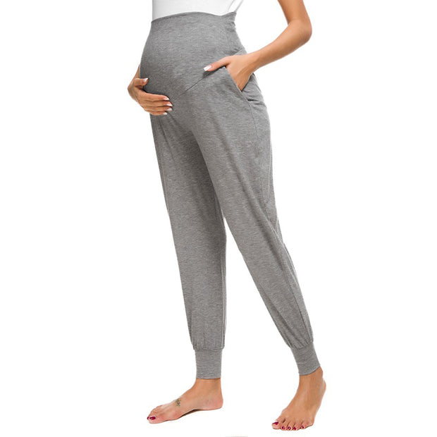 Leah Grey Maternity Casual Pants side