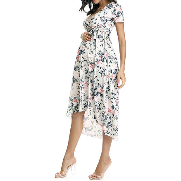 Lily Side Ruched Maternity Dress