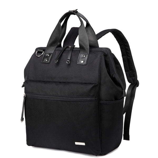 Melbourne Carry All Nappy Bag Backpack - Black