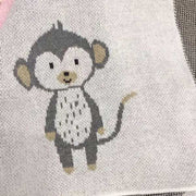 Monkey Baby Blanket close up