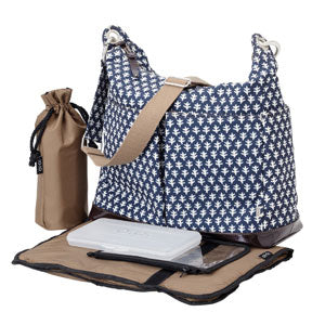 Monaco Navy 2 pocket Hobo - OIOI