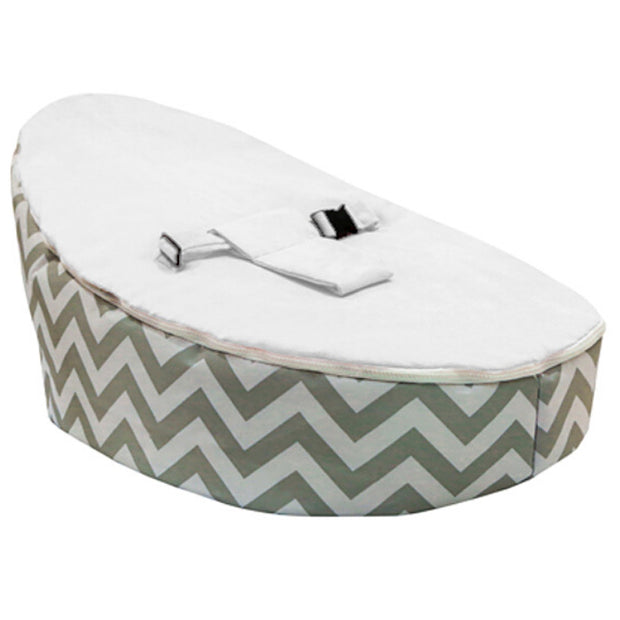 Nikoo Chevron White Baby Bean Bag