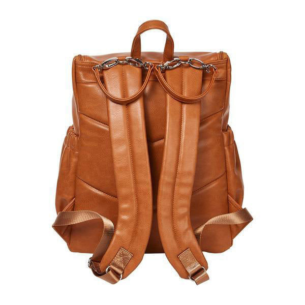 OiOi Faux Leather Nappy Bag Backpack