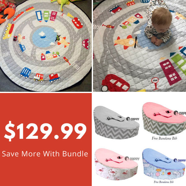 On the move Playmat & Baby Bean Bag Bundle